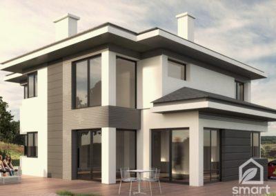 Projekt domu jednorodzinnego wolnostojącego w Żukowie